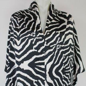 Just Cavalli Zebra Print Top Size 10